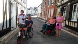 Visite guidée adaptée PMR dans le quartier du Courtgain visite guidée Saint-Valery-sur-Somme en baie