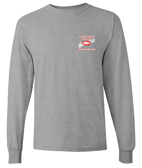CV Showband Half Time Is Game Time Sport Grey Long Sleeve Tee