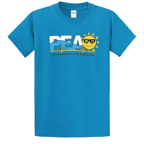 Youth PEAQ  Summer Logo  Sapphire Short Sleeve Tee