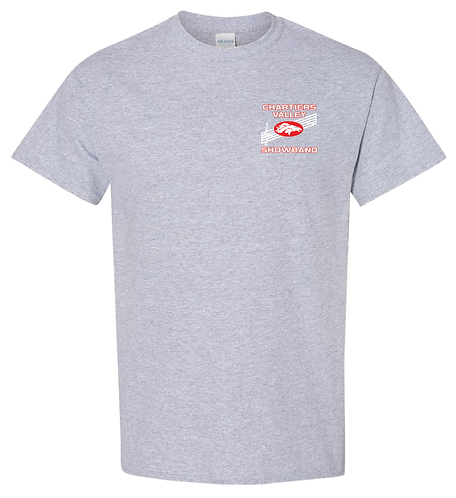 CV Showband Half Time Is Game Time Sport Grey Tee