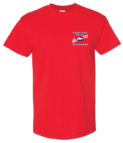 CV Showband Half Time Is Game Time Red Tee
