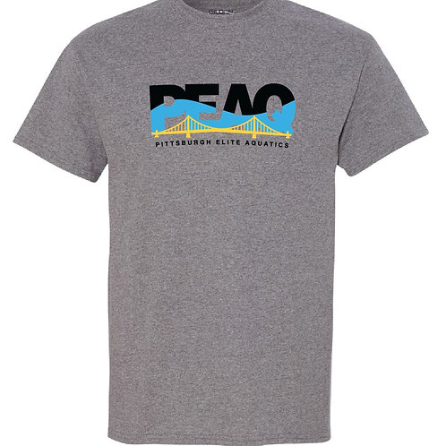 PEAQ  Original Logo Sport Grey Short Sleeve Tee