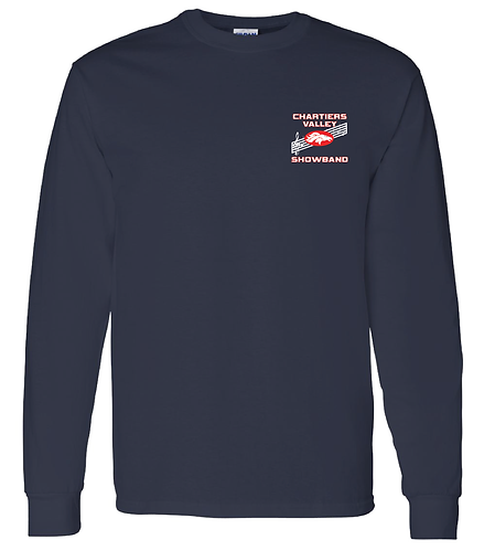 CV Showband Half Time Is Game Time Navy Long Sleeve Tee
