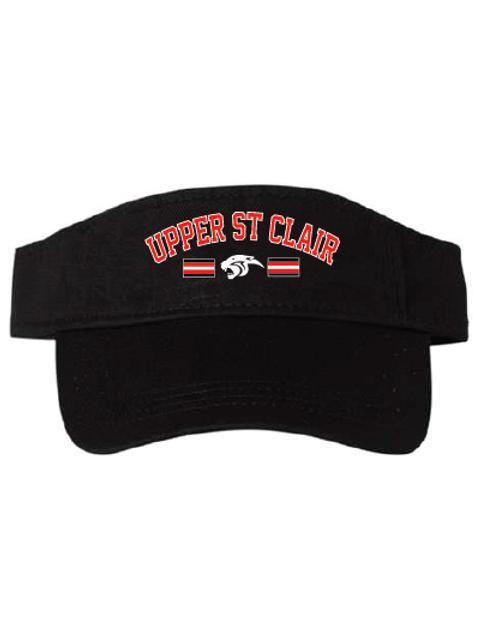 ValuCap Bio Washed Visor in Black with Embroidered USC Banner Logo