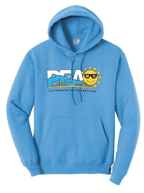 PEAQ  Summer Logo Sapphire Pullover Hoodie
