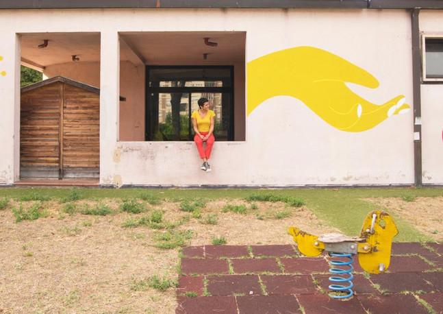 FIORIRE Murale 2021 Terni presso L'Asilo nido La Coccinella  Foto di Luna Cesari (gli occhi che preferisco)