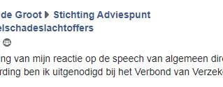 """Nederland : pers steunt verzekeringsslachtoffers, Mike De Groot """"uitgenodigd"""" door Verbond"""