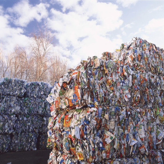 Used beverage cartons for processing