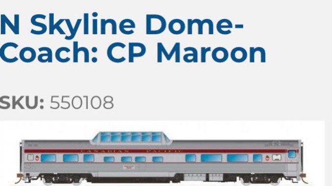 550108 / N scale CP Skyline - CP Maroon