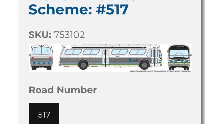 753102 / 1:87 HO scale Edmonton Transit Service fishbowl bus - DELUXE