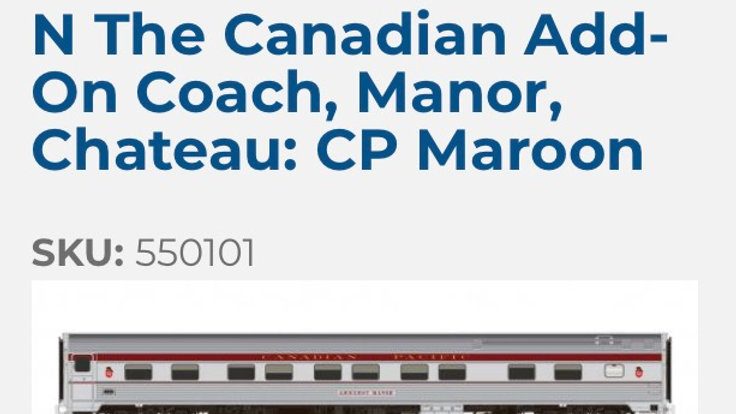 550102 / N scale Canadian 3 pack add on (CP Action Red)