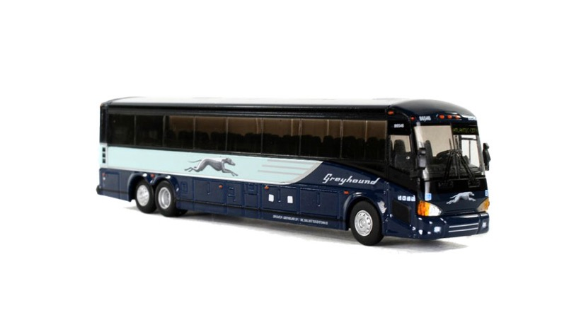 87-0121  / 1:87 MCI D4505 Greyhound motor coach# 86550 / destination: Blank