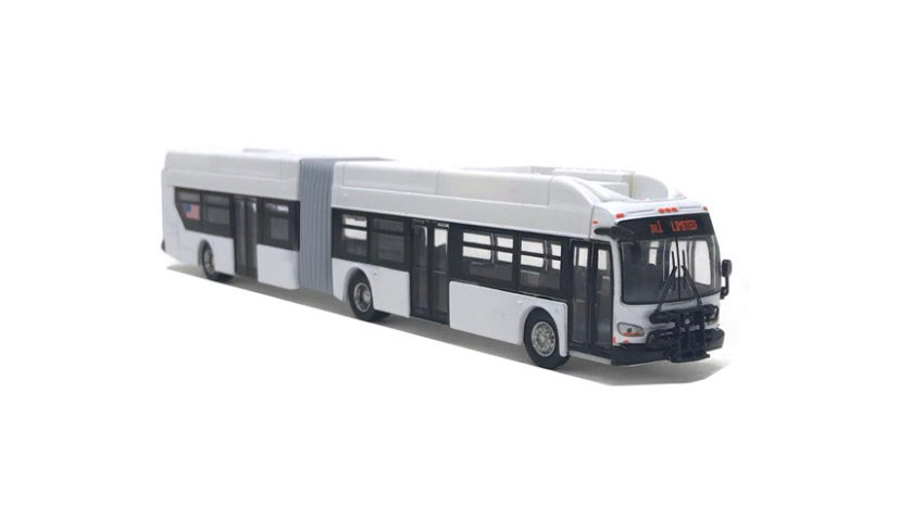 87-0195 / 1:87 New Flyer Xcelsior CNG articulated transit bus BLANK WHITE