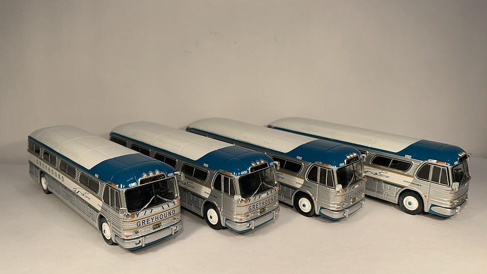 87-0207 / 1:87 GM PD4104 Greyhound coach #4980 PICK YOUR DESTINATION