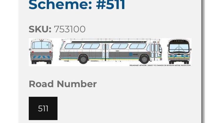 753100 / 1:87 HO scale Edmonton Transit Service fishbowl bus - Deluxe