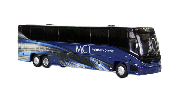 "87-0038 / 1:87 MCI J4500 ""Motor Coach Industries Corporate"" scheme"
