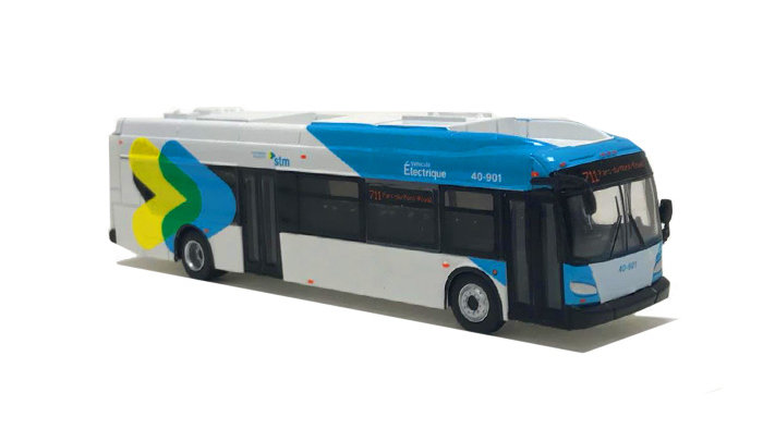 87-0218 / 1:87 New Flyer XcelsiorCharge transit bus MONTREAL