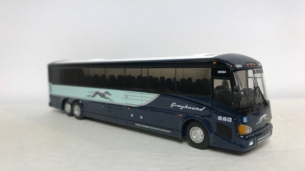 "12-1-1-0036B / 1:87 MCI D4505 Greyhound motor coach Destination: ""GO GREYHOUND"""