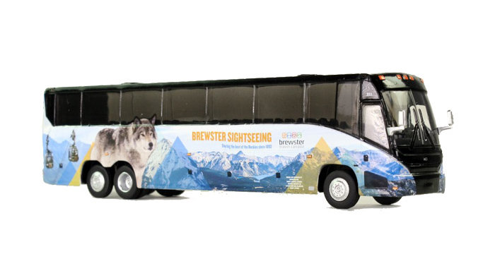 1:87 MCI J4500 Motor coach Brewster Sightseeing