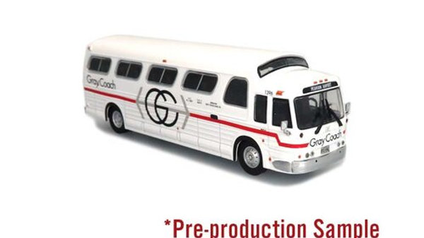 """87-0281/1:87 HO scale GM PD4107 Gray Coach """"AIRPORT EXPRESS"""" Iconic Replicas"""
