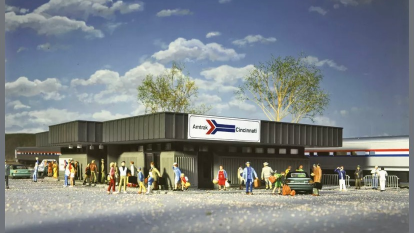 933-3038 / 1:87 HO Amtrak Station by Walthers Cornerstone