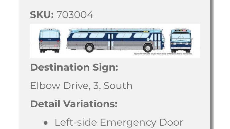 703004 / 1:87 HO GMC fishbowl bus - Calgary Transit - STANDARD
