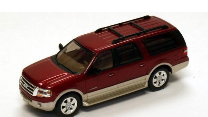 1:87 HO Scale 2007 Ford Expedition 2-tone burgundy / tan   River Point Station
