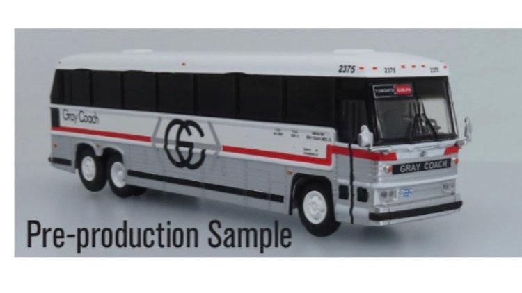 87-0330 / 1:87 MCI MC-9 Gray Coach