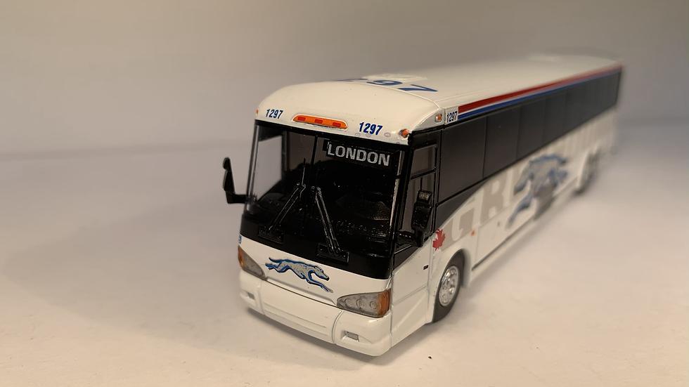 "87-0219 / MCI D4505 Greyhound Canada ""LONDON"" custom destination"