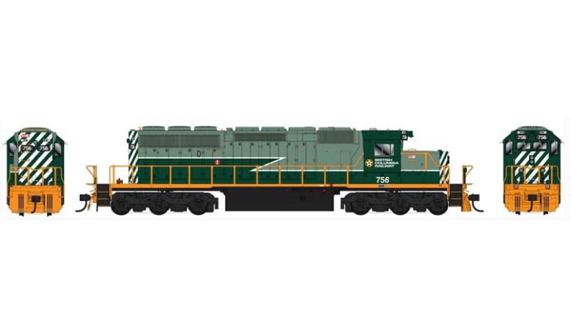25028 / SD40-2 BCR #757 DCC w/Sound TWO TONE GREEN HO Scale
