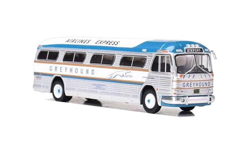 """87-0207 / 1:87 GM PD4104 Motorcoach Greyhound - Airlines Express """"AIRPORT"""""""