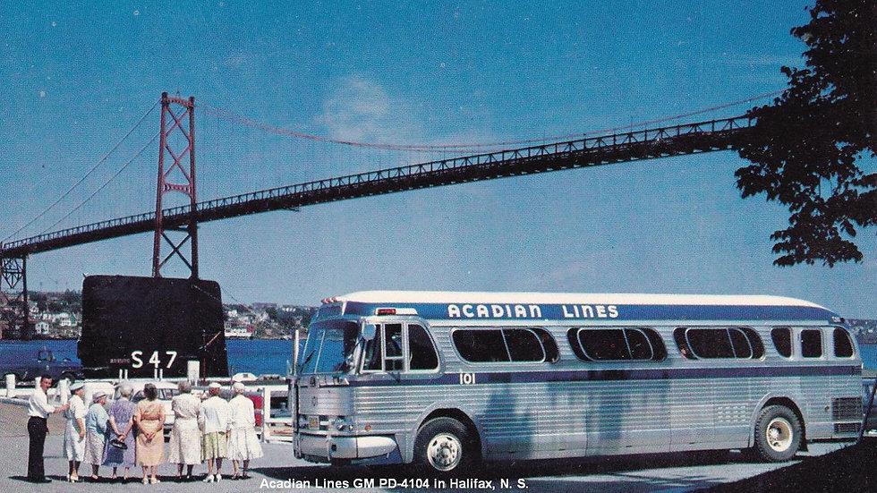 87-ACL-0101 / 1:87 GM PD4104 Acadian Lines custom run