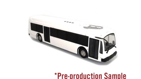 87-0243 / 1:87 HO scale Proterra Transit bus Blank/white Iconic Replicas