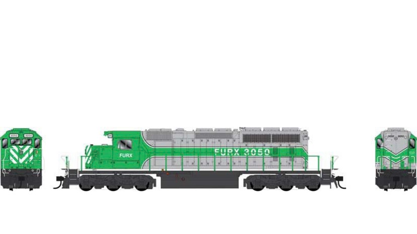 25059 / SD40-2 FURX #3050 DCC w/Sound First Union Rail HO Scale