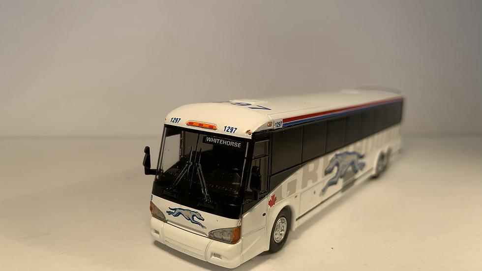 "87-0219 / 1:87 MCI D4505 Greyho Canada ""WHITEHORSE "" custom destination"