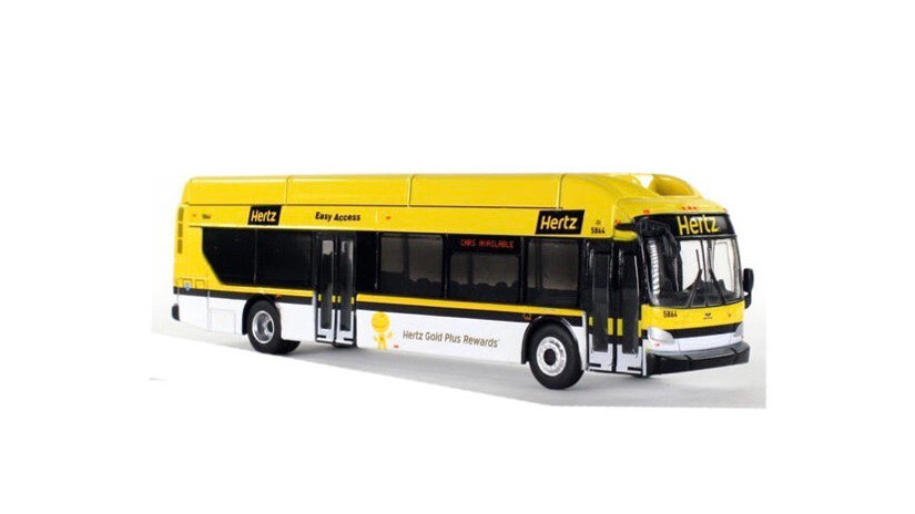 87-0139 / 1:87 Hertz New Flyer Xcelsior CNG transit bus
