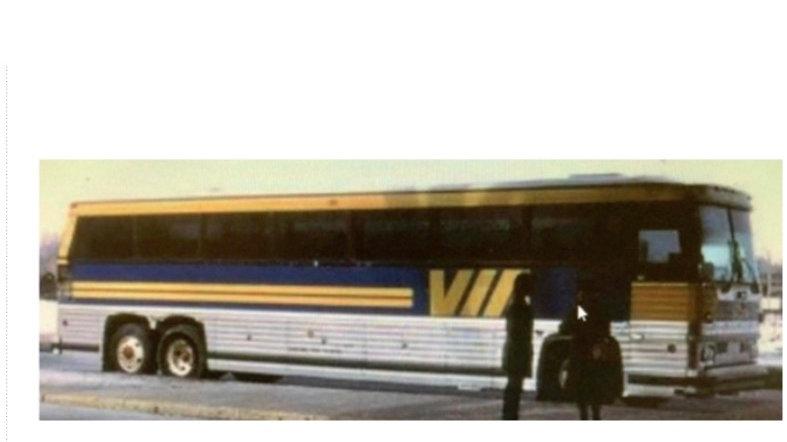 """87-0230 / 1:87 1984 MCI MC-9 VIA Rail """"OTTAWA"""" factory destination"""