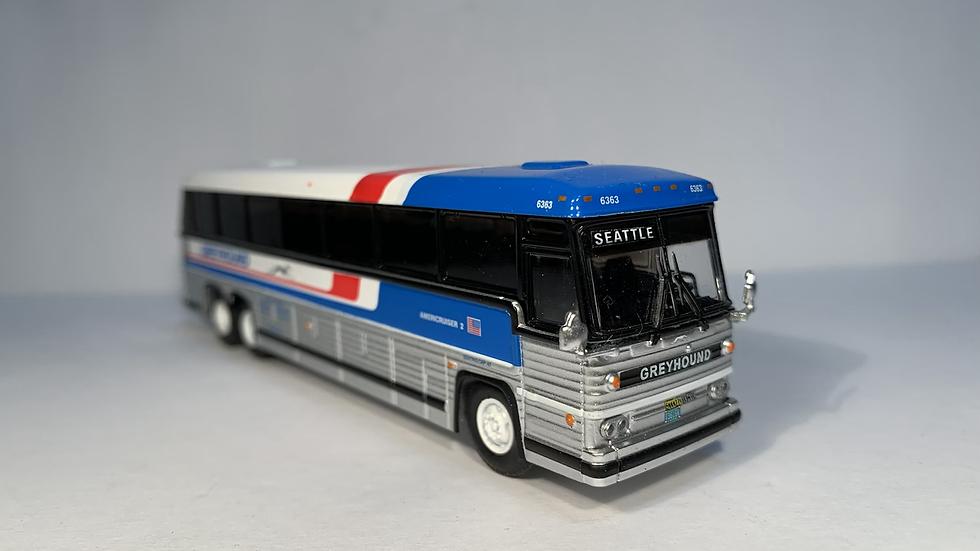 "87-0228 / 1:87 1984 MCI MC-9  CUSTOMIZED Greyhound Americruiser ""SEATTLE """