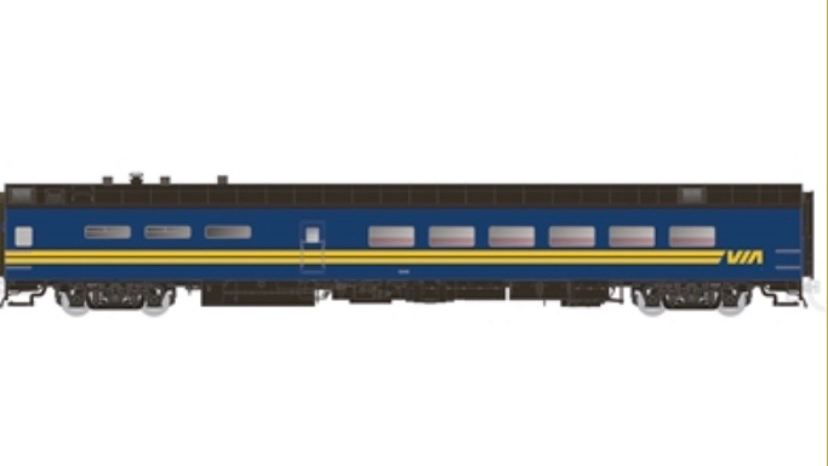 124009 / HO 1:87 P-S Dining Car VIA RAIL #1338