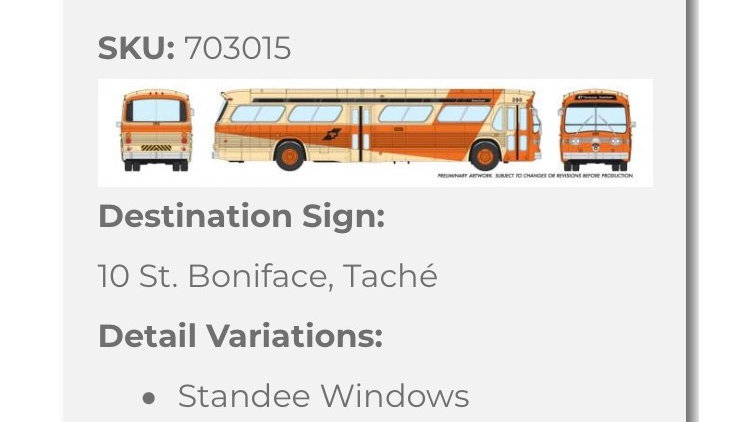 703015 / 1:87 HO GMC fishbowl bus - Winnipeg Transit - STANDARD