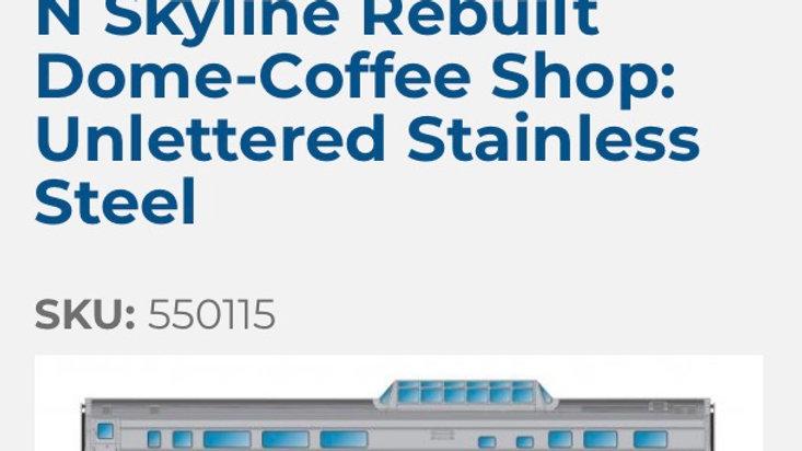 550115 / N scale BLANK Skyline REBUILT unlettered blank
