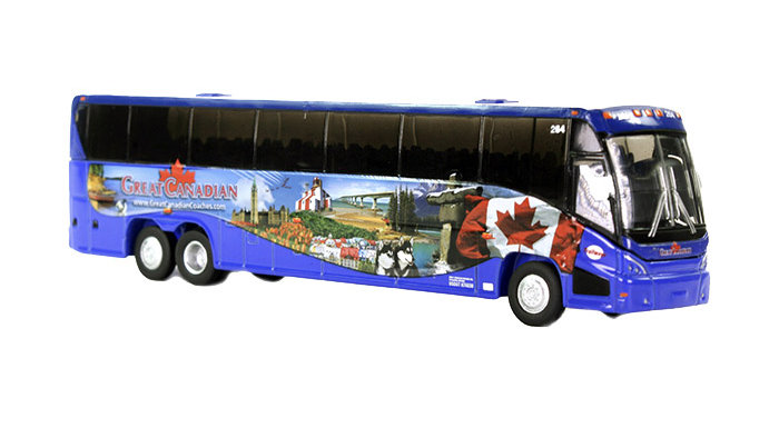 1:87 / HO scale MCI J4500 Great Canadian Tours Motor coach