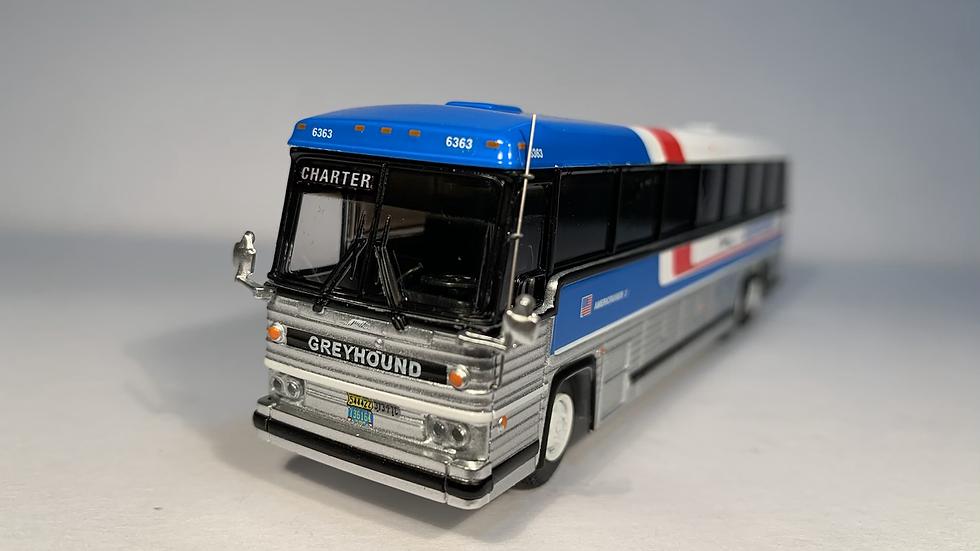 "87-0228 / 1:87 1984 MCI MC-9  CUSTOMIZED Greyhound Americruiser ""CHARTER"""