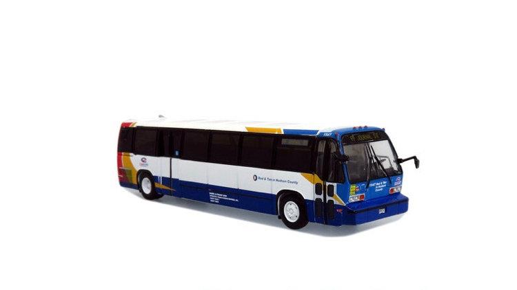 87-0318 / 1:87 TMC RTS Transit bus Red & Tan Hudson County