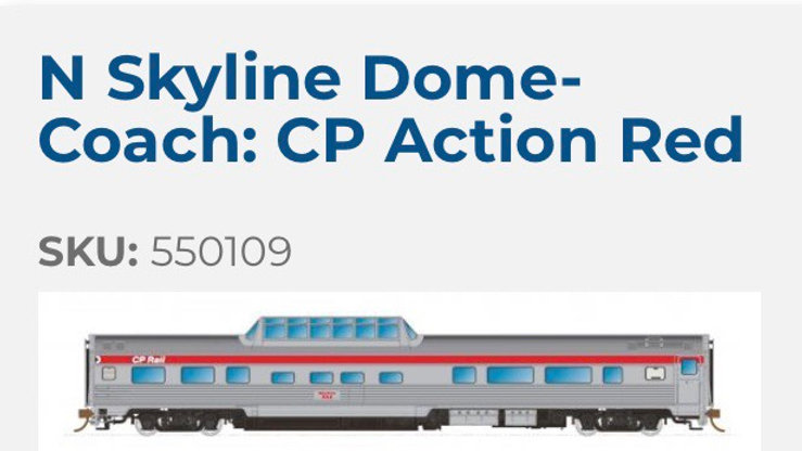 550109 / N scale CP Skyline - CP Action Red