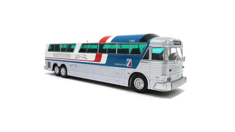 "87-0183 / 1:87 MCI MC-7 motor coach destination 'WASHINGTON"""