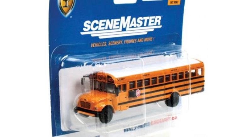 1:87 HO Scale Walthers international school bus