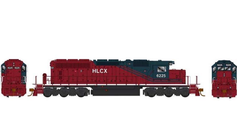 25068 / SD40-2 HLCX #6225 ex QNSL DCC w/Sound Helm Leasing HO Scale