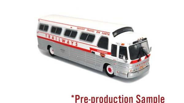 87-0284 /1:87 HO scale GM PD4107  Trailways  Iconic Repl