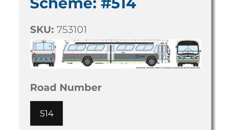 753101 / 1:87 HO scale Edmonton Transit Service Fishbowl bus- DELUXE